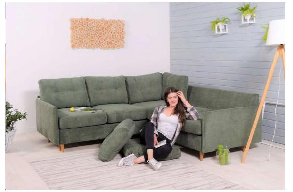"""""""Вест"""" кутовий диван 4-місний розкладний"""