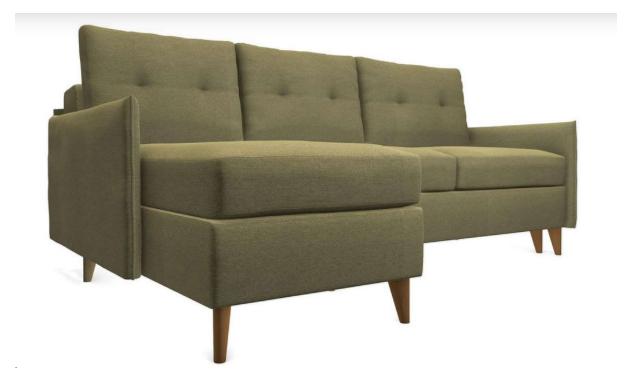угловой ортопедический диван-кровать